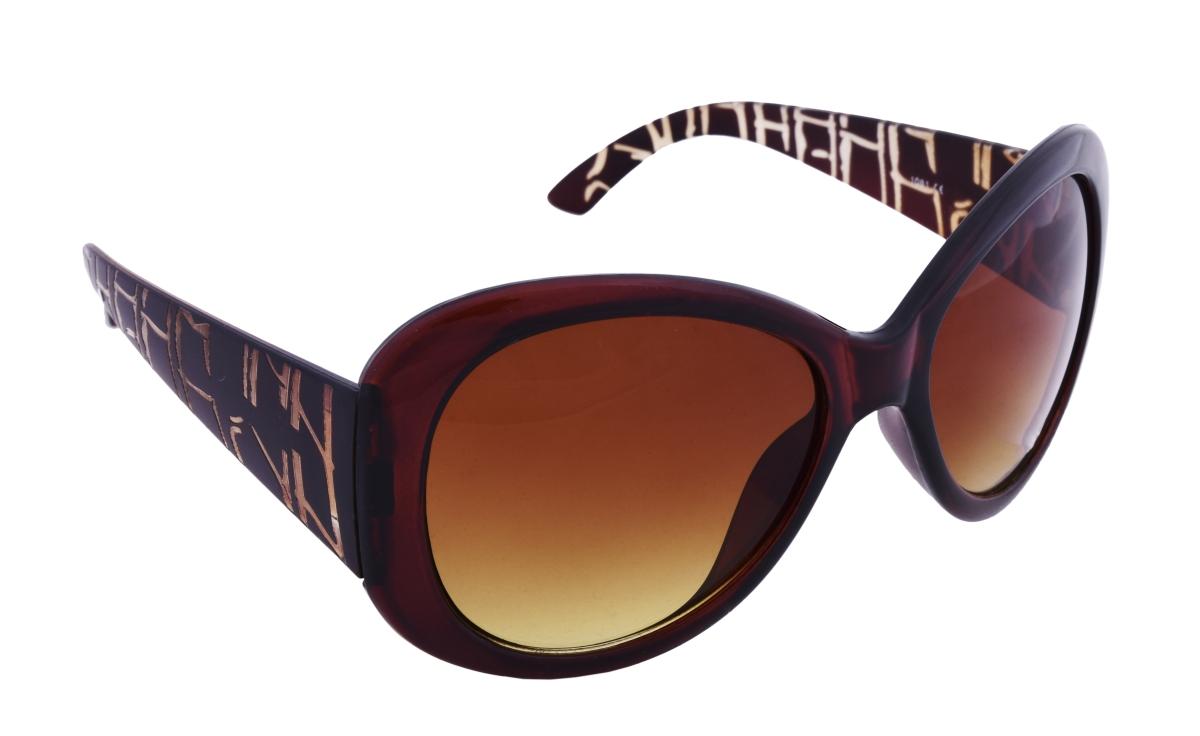 Sluneční brýle 100% UV ochrana hnědé s ozdobnými nožičkami