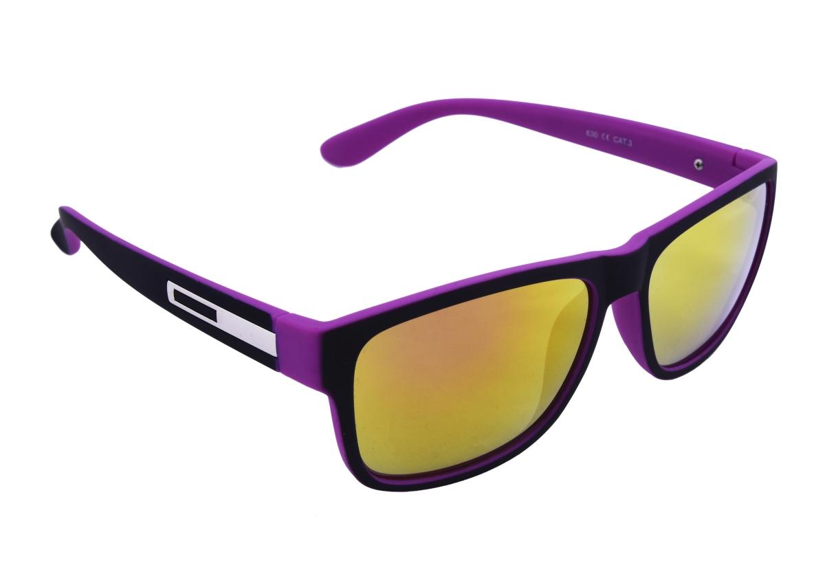 Sluneční brýle 100% UV ochrana černo fialové