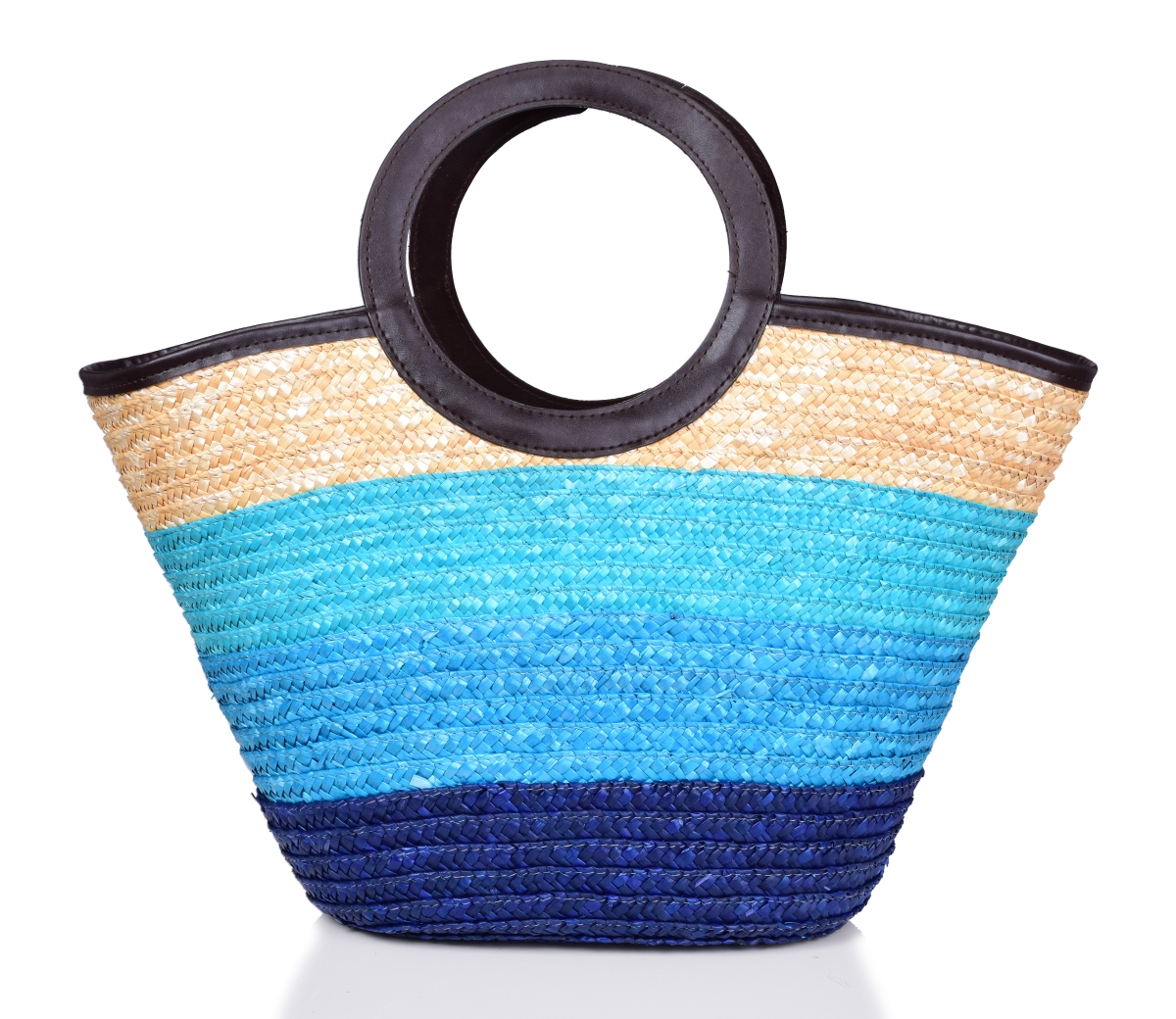 Stylová kabelka KEISHA  modré pruhy