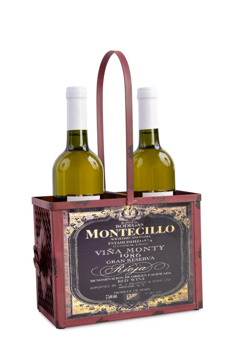 Kovový držák na lahve, vínový