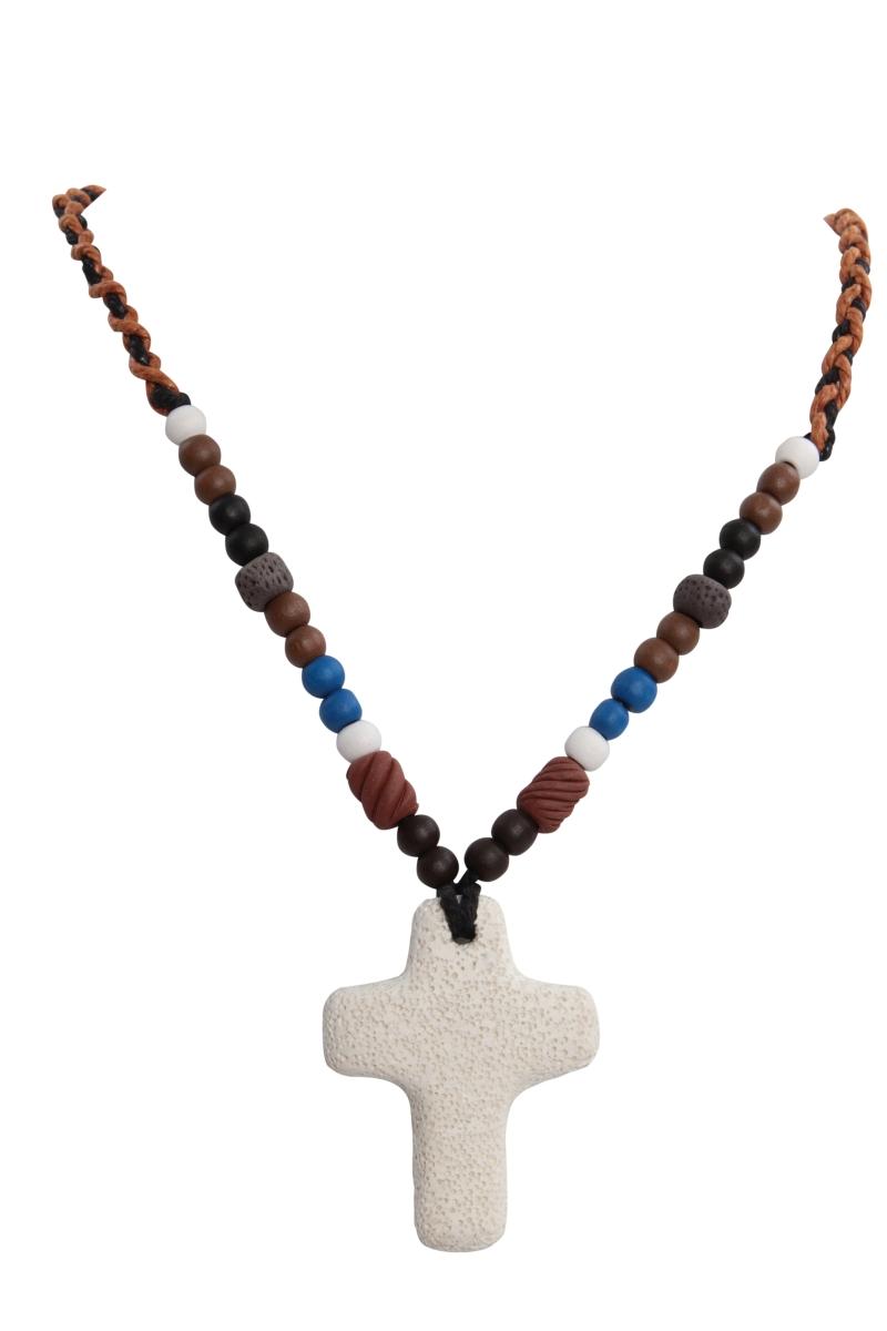 NATURAL náhrdelník  přírodní kříž
