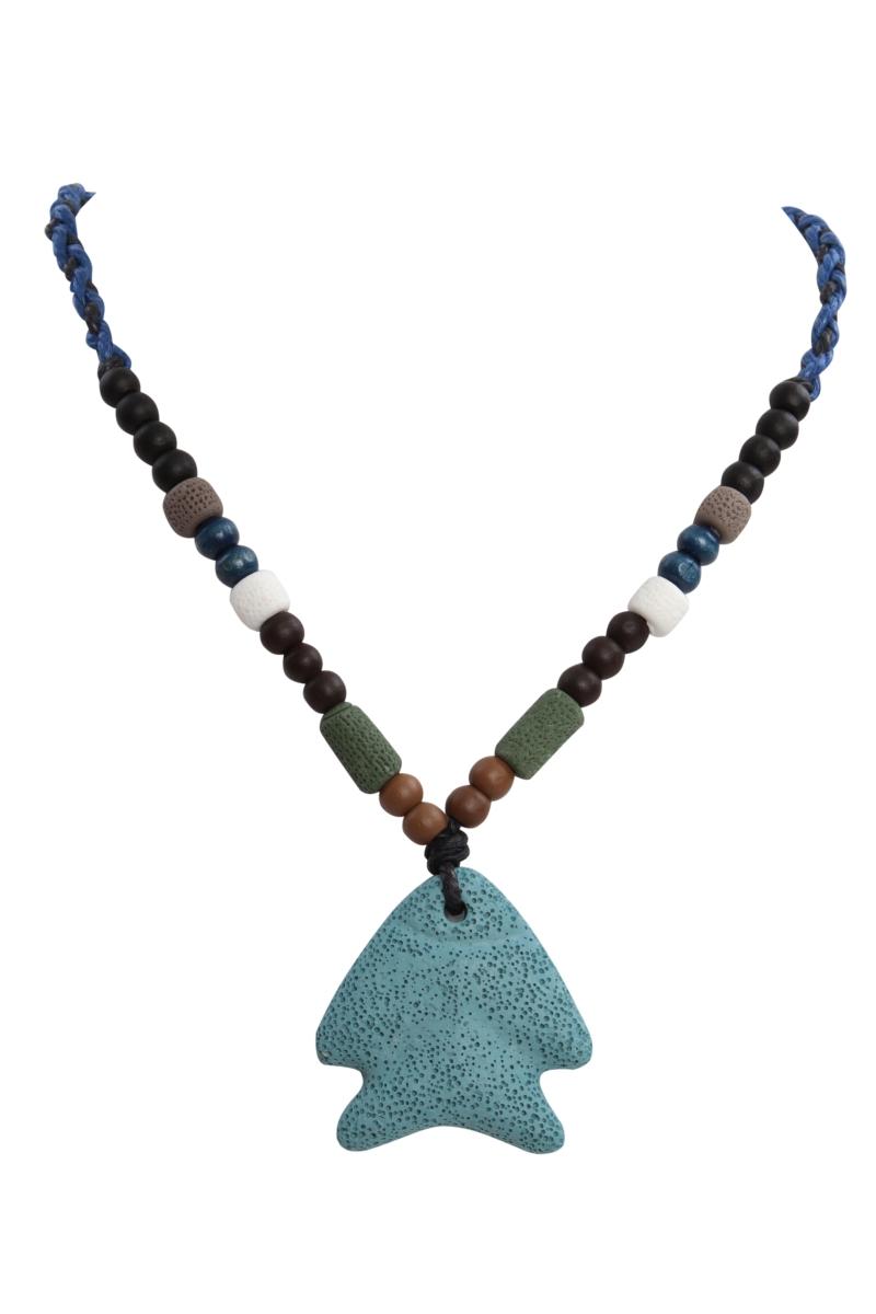 NATURAL náhrdelník  tyrkysová ryba