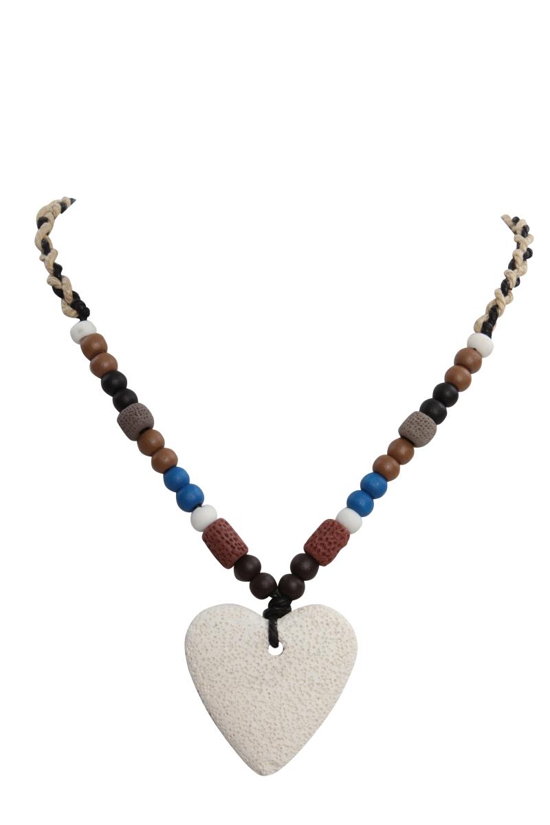 NATURAL náhrdelník, přírodní srdce
