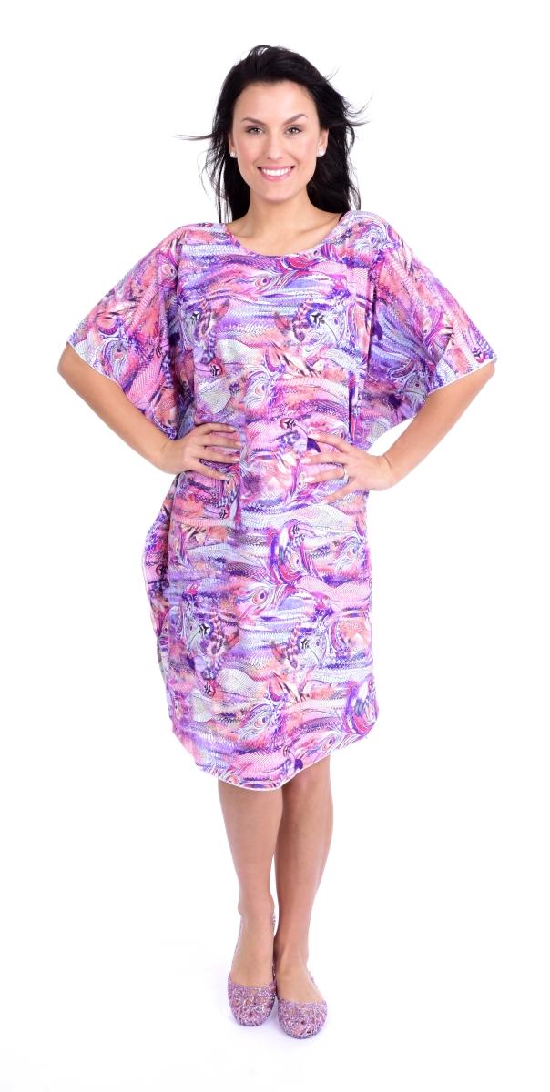 ADELE vzdušné šaty violet multicolor