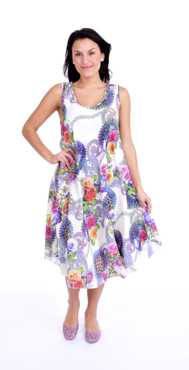 FC11112-AGATE vzdušné šaty white multicolor