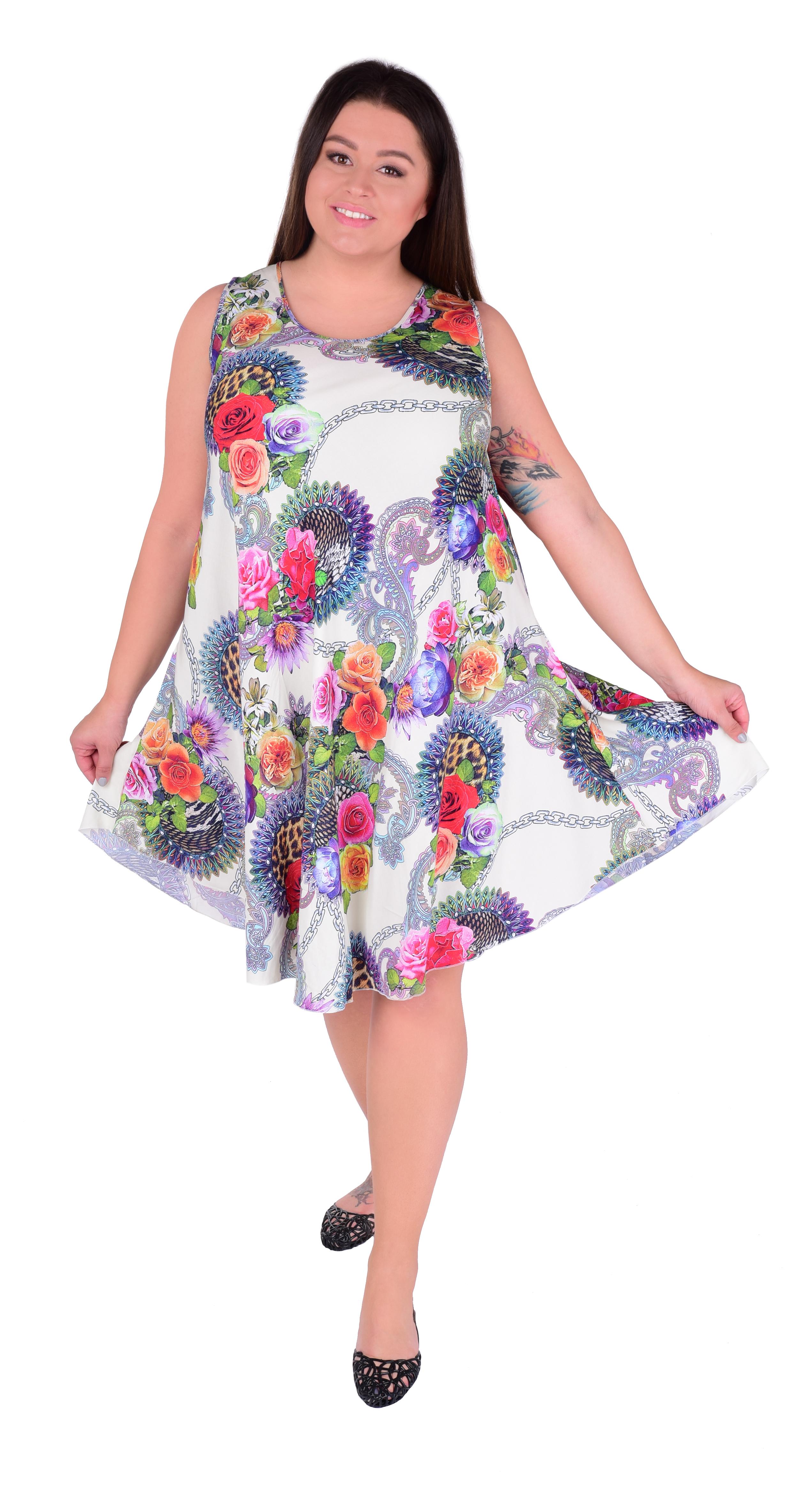 AGATE vzdušné šaty white multicolor