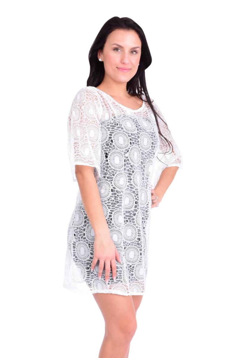 PALLAS krajkové šaty white