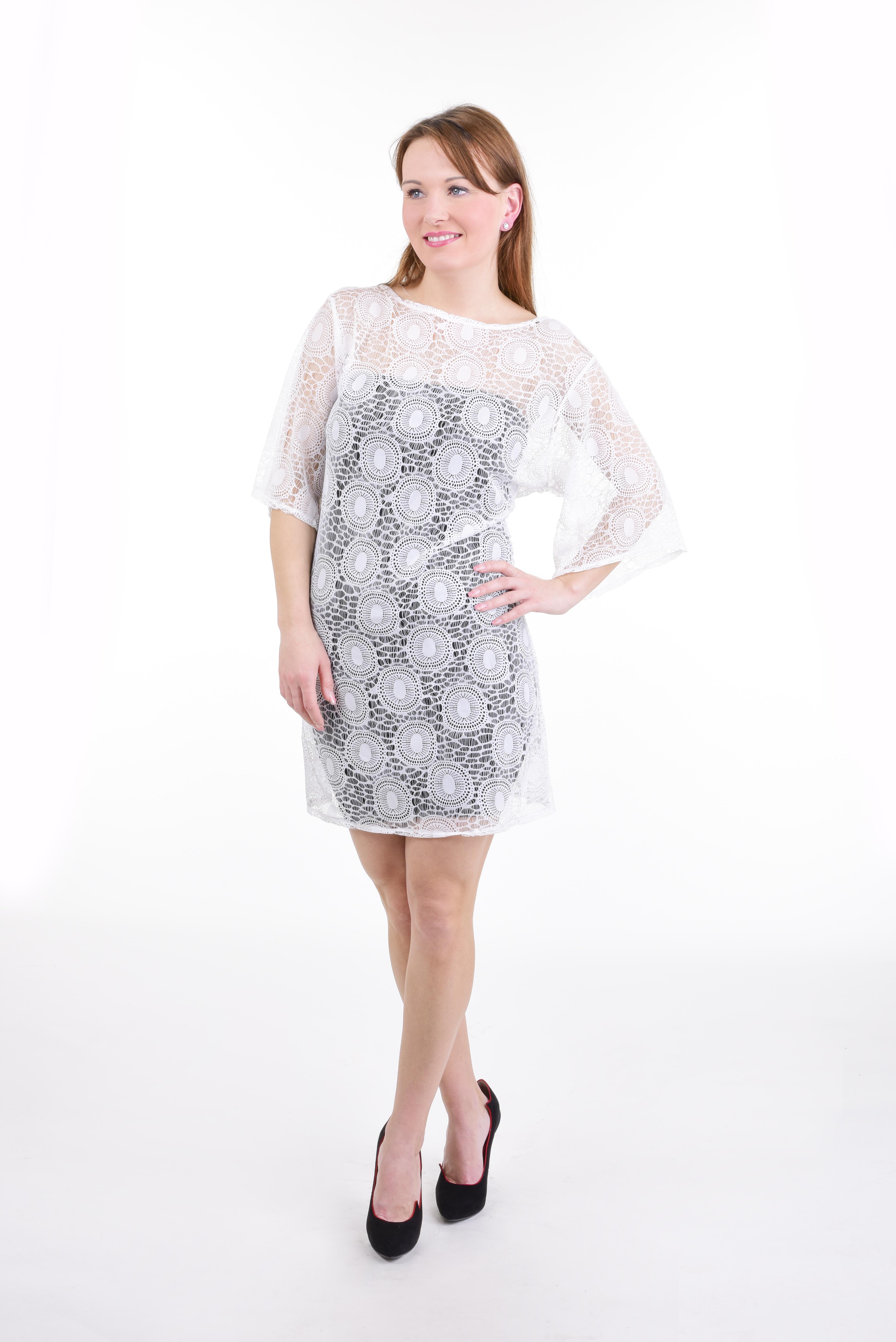 FC11061-PALLAS krajkové šaty white