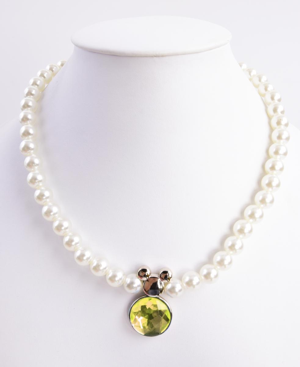 Korále a náramek, v barvě perleti