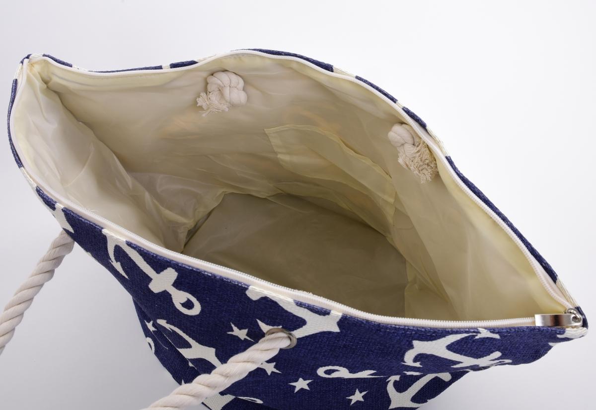 MARINE velká kabelka, bílá kotva