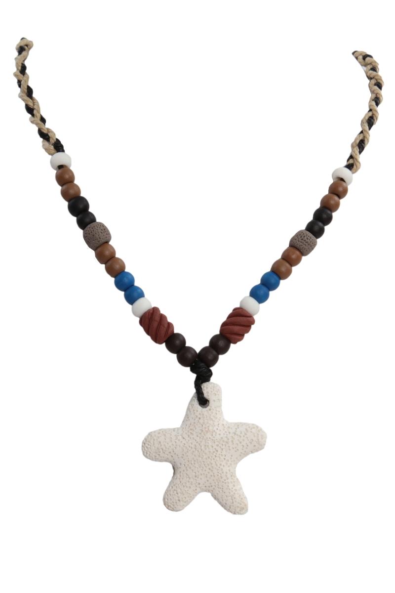 NATURAL náhrdelník, přírodní hvězdice