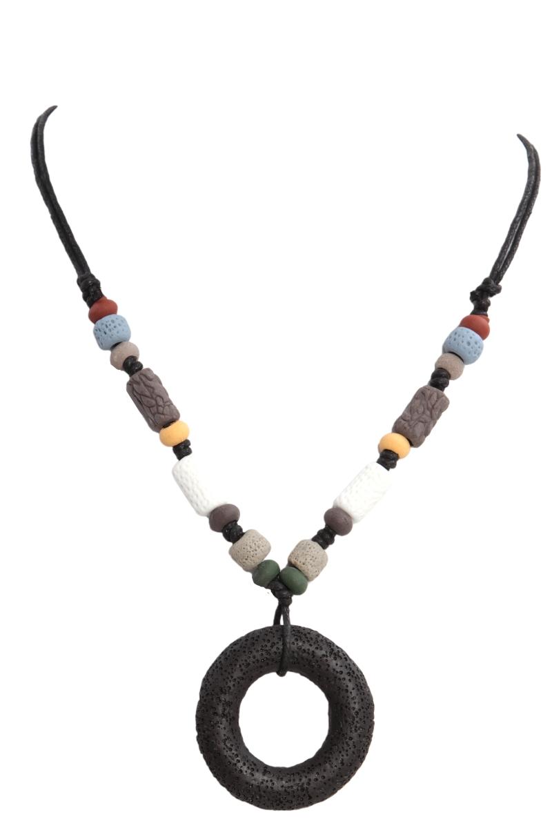 NATURAL náhrdelník, černý kruh