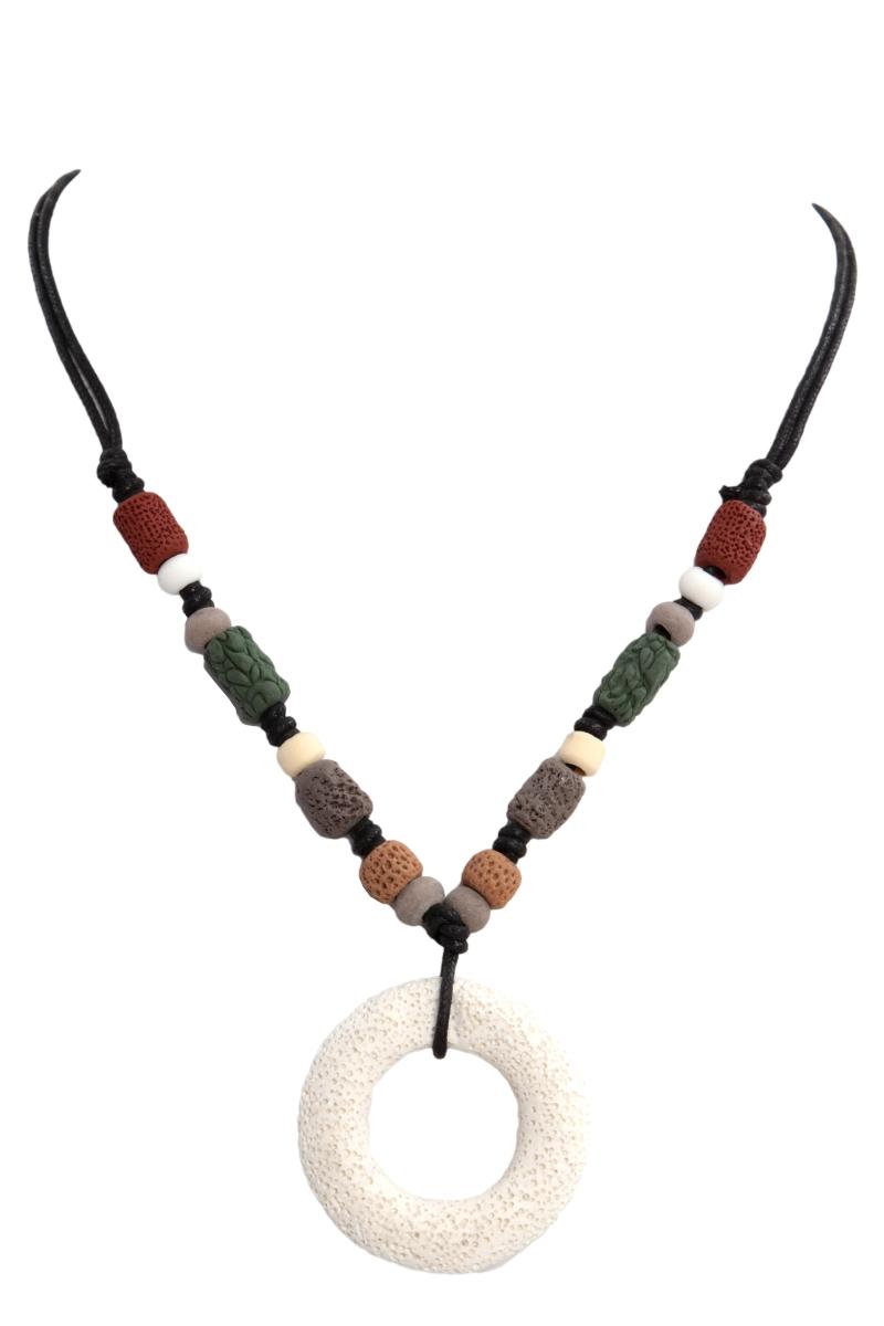 NATURAL náhrdelník, přírodní kruh