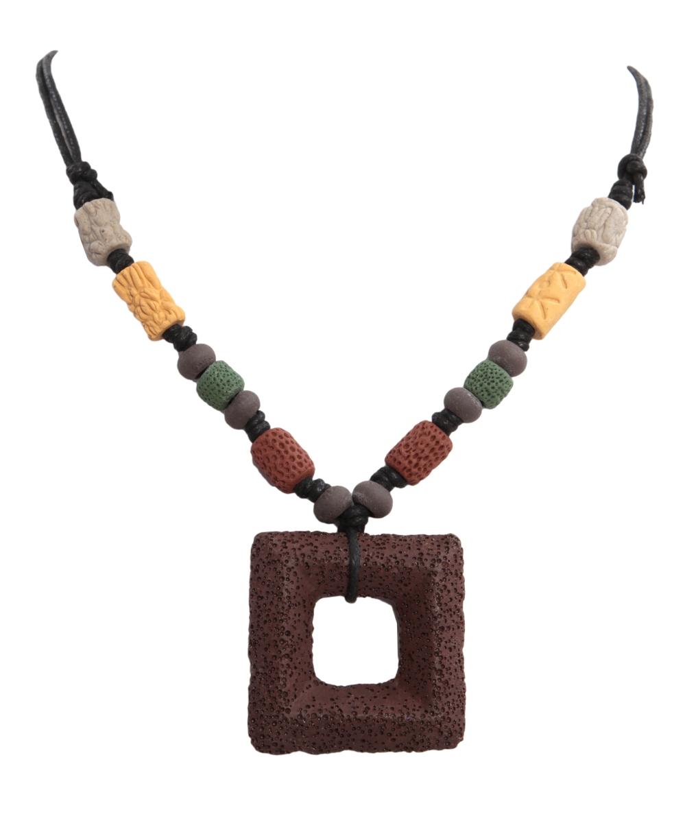 NATURAL náhrdelník  hnědý etno