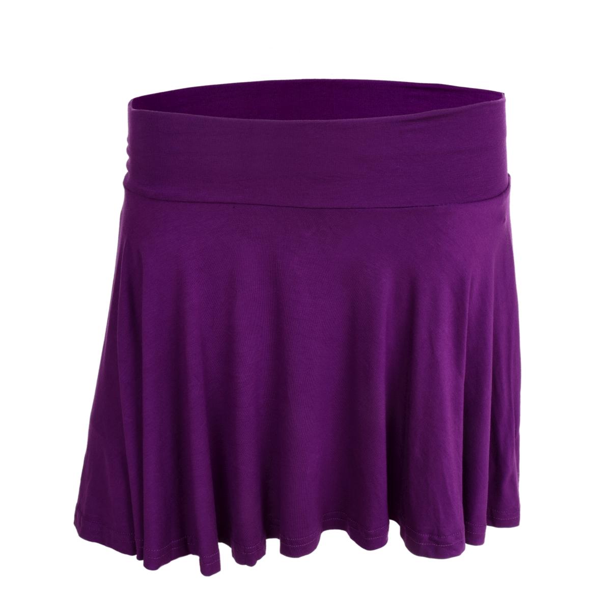 WHEELY kolová sukně fialová