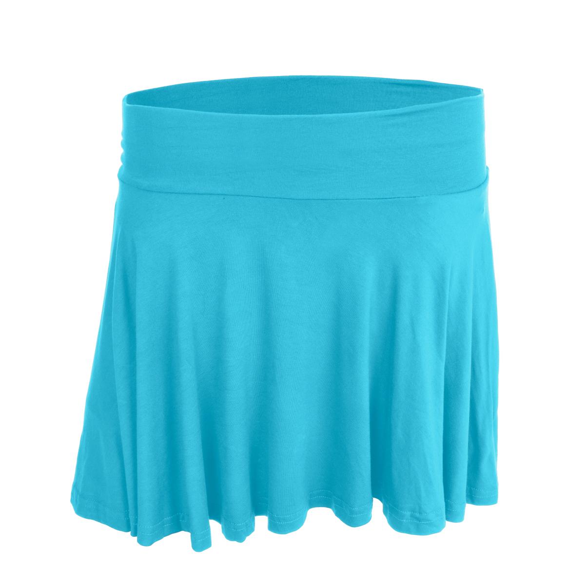 WHEELY kolová sukně tyrkysová