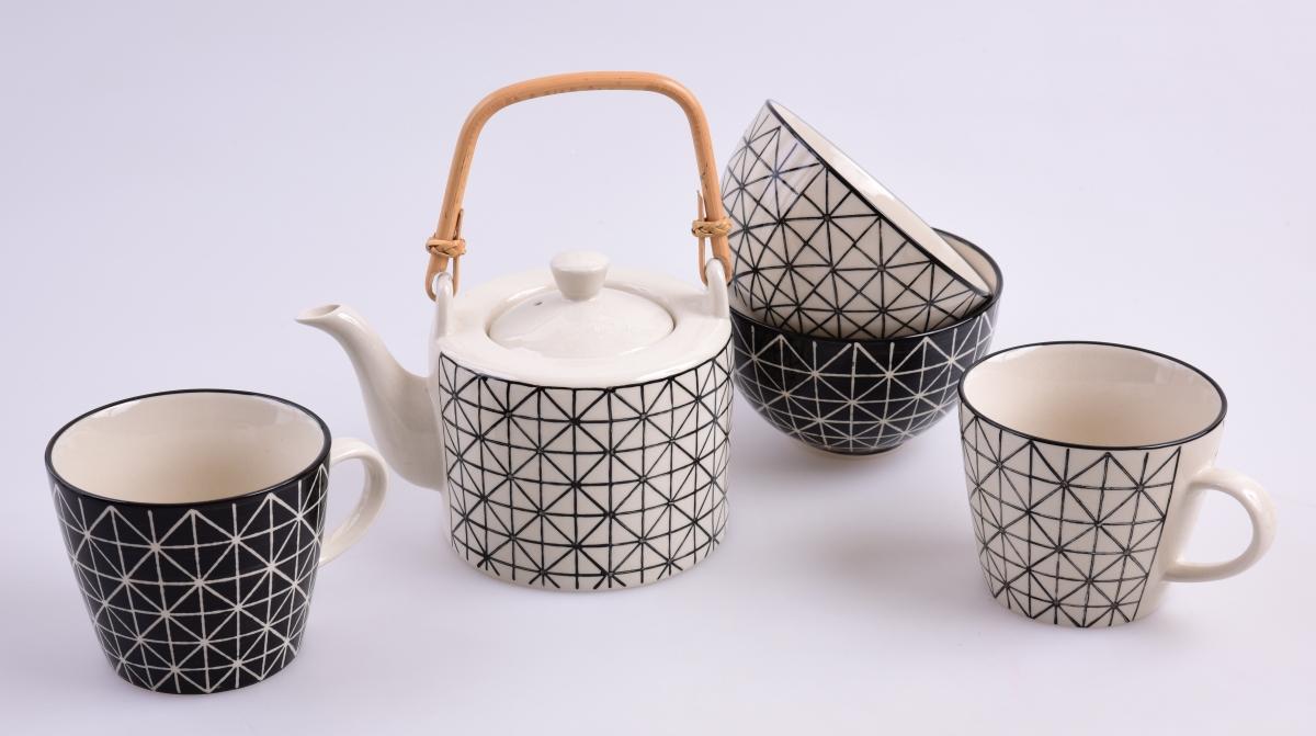 Konvice Black&White, s bambusovým