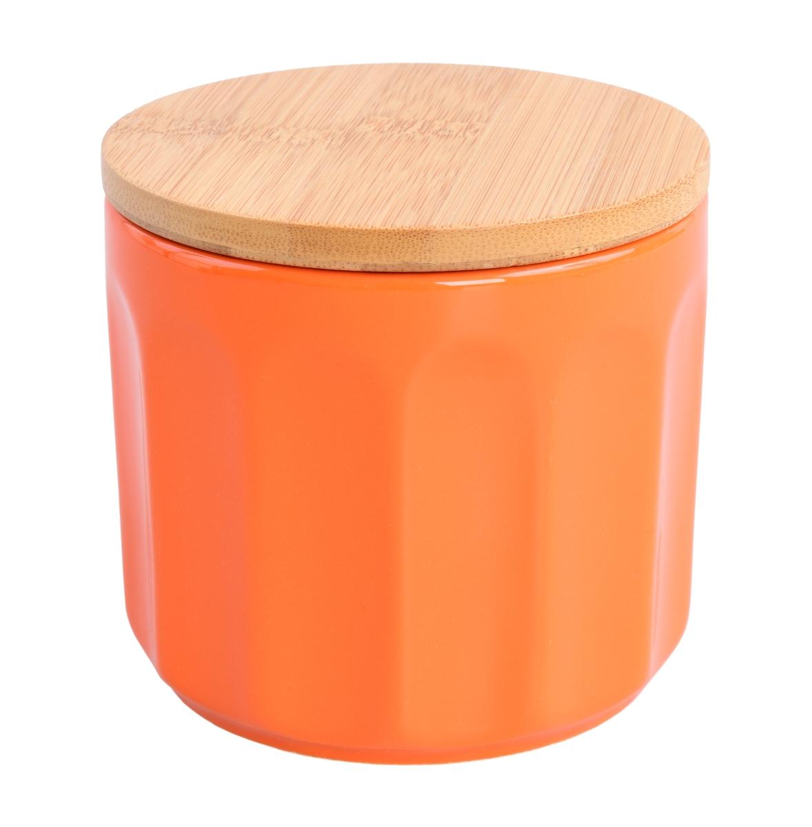 Keramická dóza s víkem 460 ml oranžová