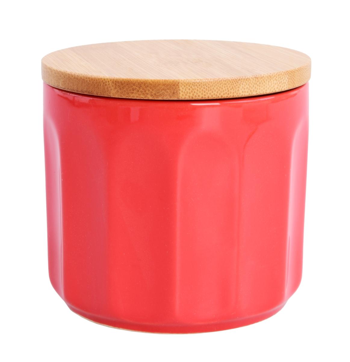 Keramická dóza s víkem 460 ml červená