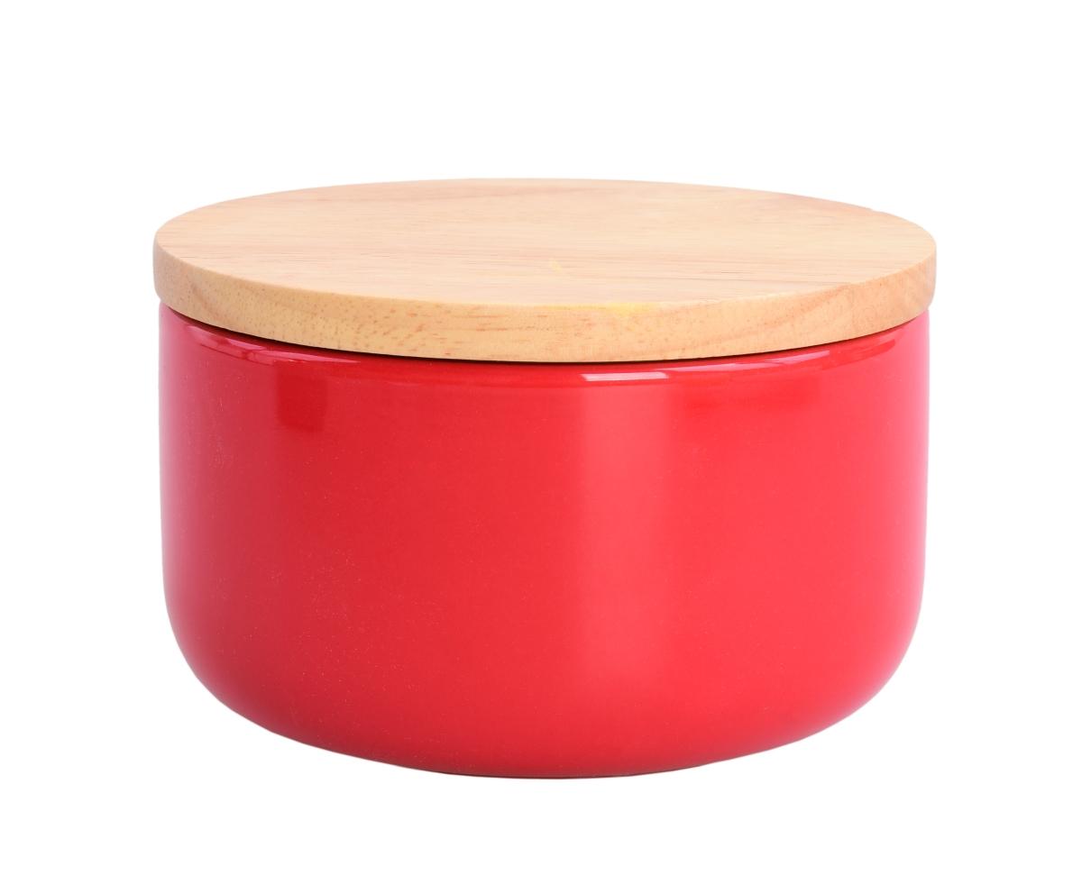 Keramická dóza s víkem 840 ml červená