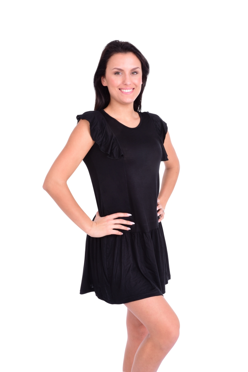 FC11411-Tain krátke šaty / tunika čierne