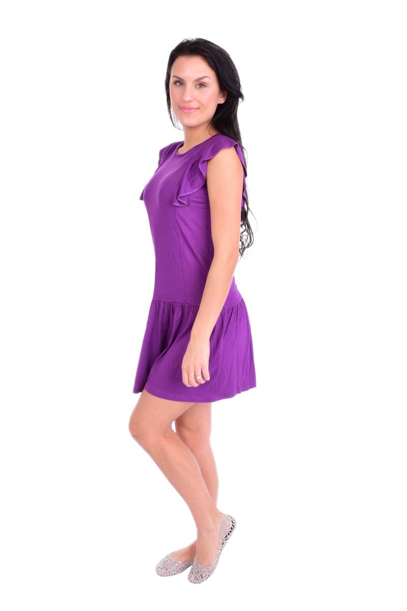 FC11412-Tain krátke šaty / tunika fialové