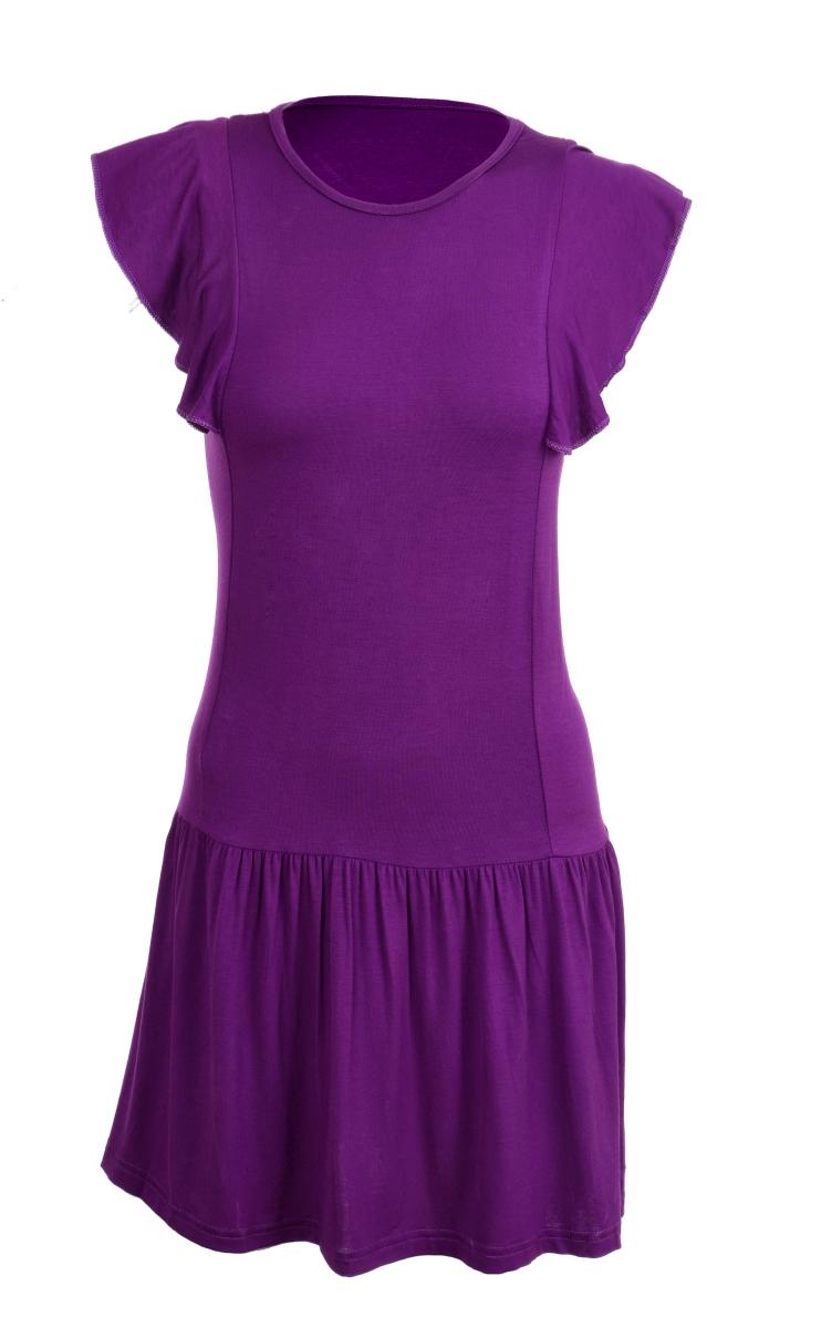 TAINY krátké šaty/tunika fialové