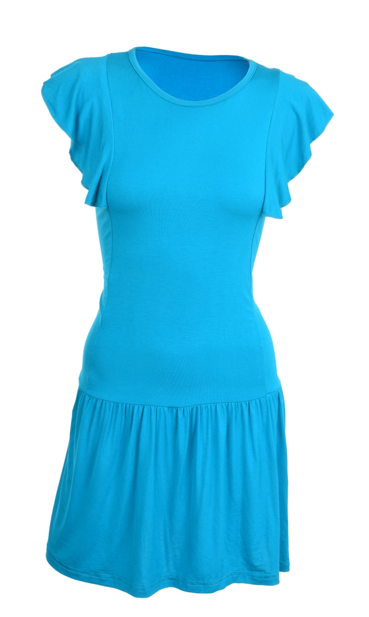 TAINY krátké šaty/tunika tyrkysové