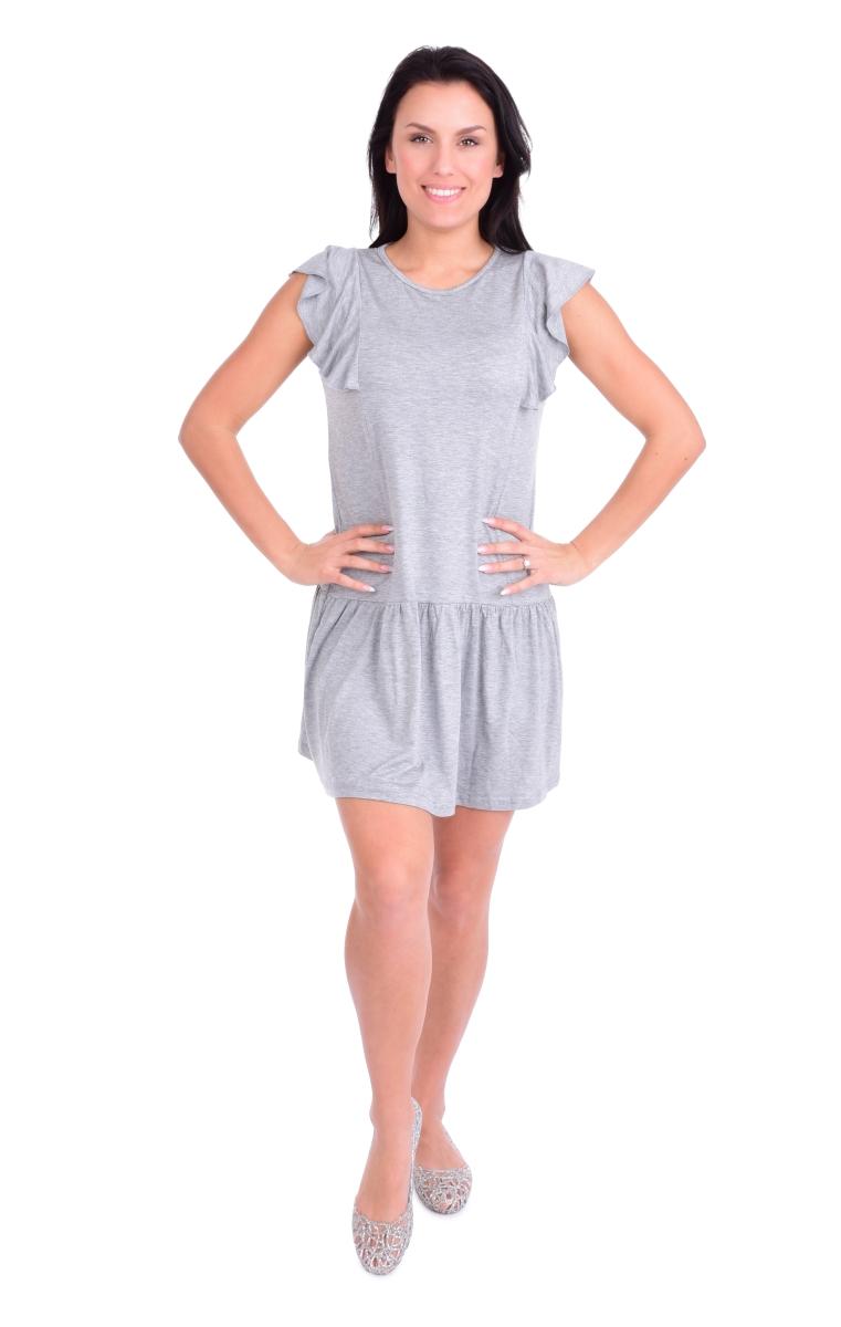 FC11414-Tain krátke šaty / tunika šedej