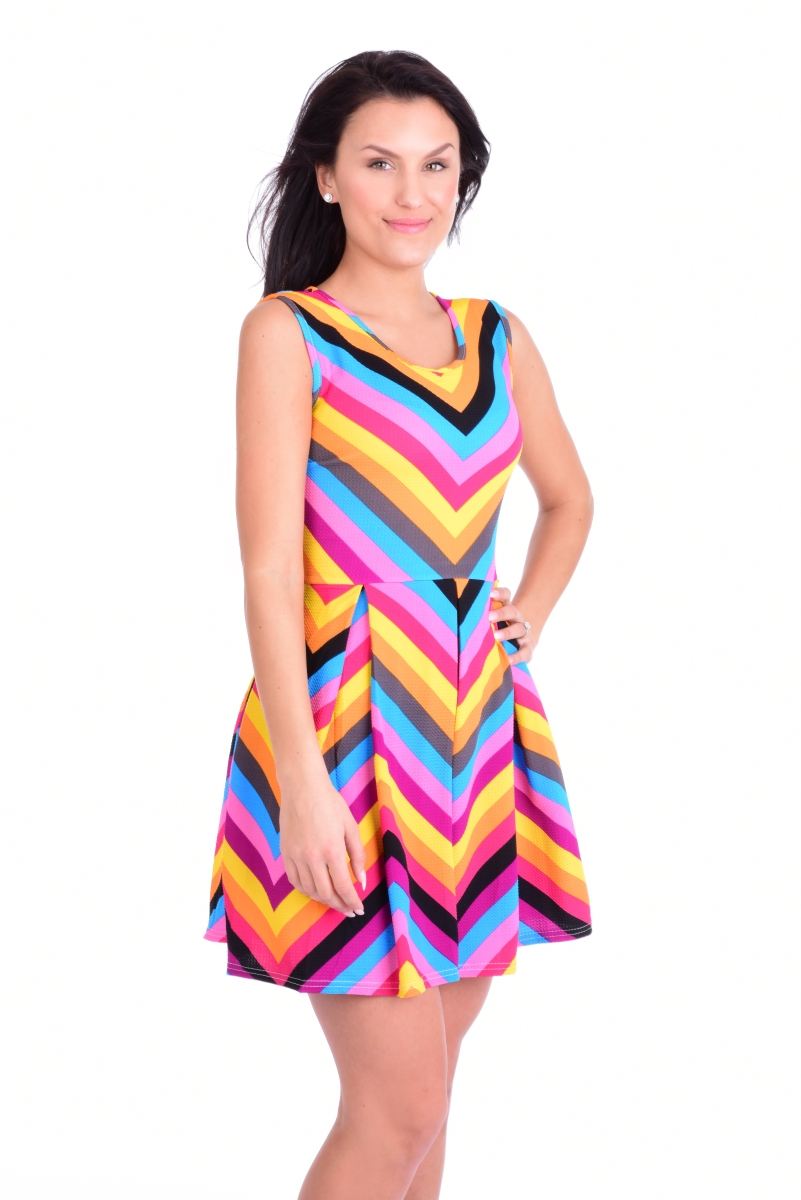 78441bcbd19 Barevné šaty MULTICOLOR - Vaše DEDRA - oficiální stránky