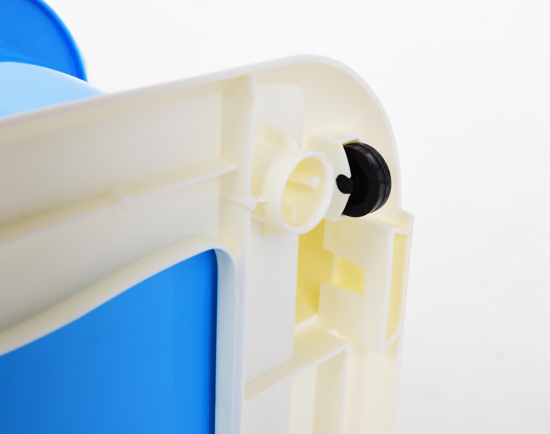 68 cm QUINTO REGAL mini pětipatrový regál, s 5 výsuvnými různobarevnými boxy