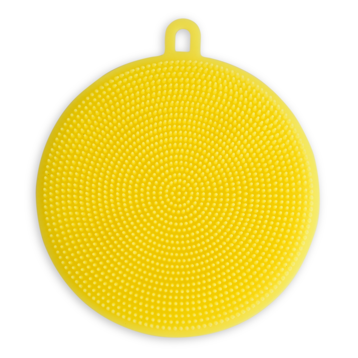 SILISASANKA na mytí silikonová houbička oboustranná, žlutá