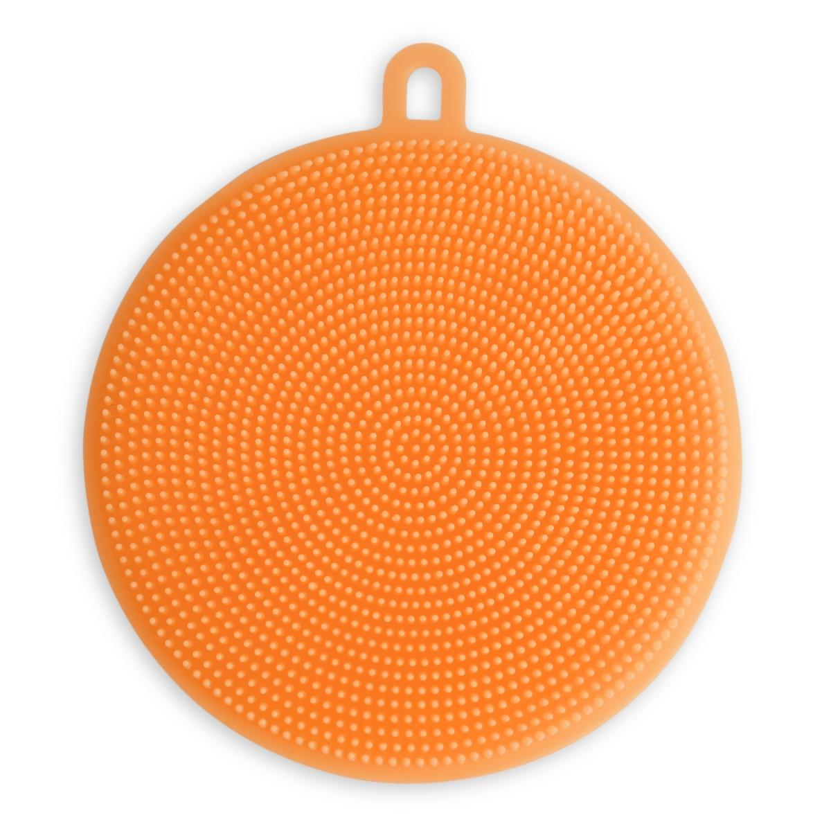 SILISASANKA na mytí silikonová houbička oboustranná, oranžová