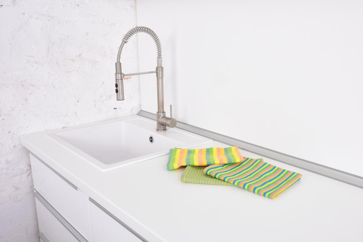 3ks kuchyňské utěrky, žluto-zelené tóny