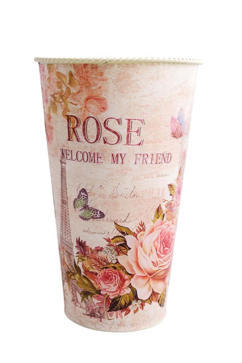 Dekorativní kovová váza ROSE menší