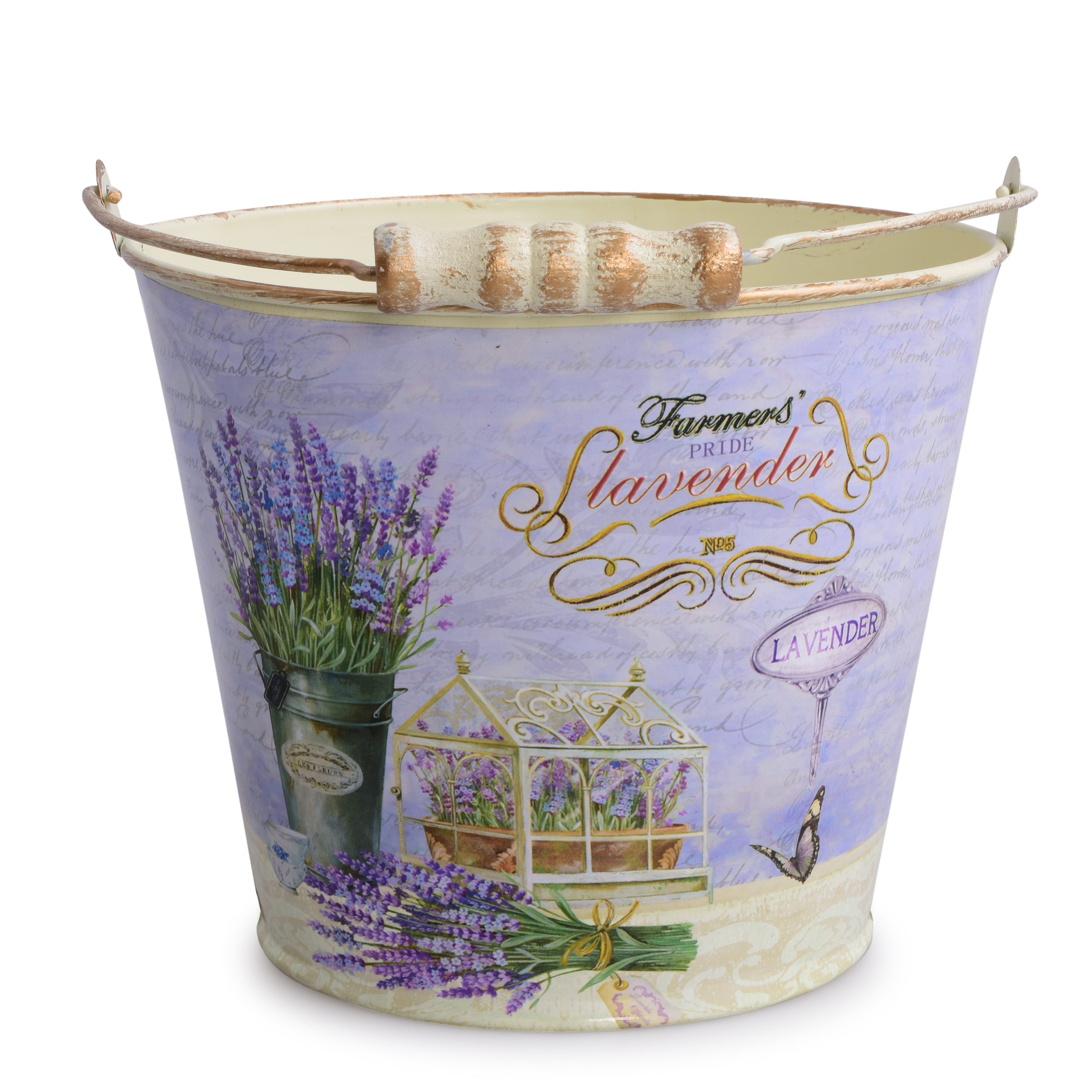 Kovový dekorativní obal na květináč, LAVENDER