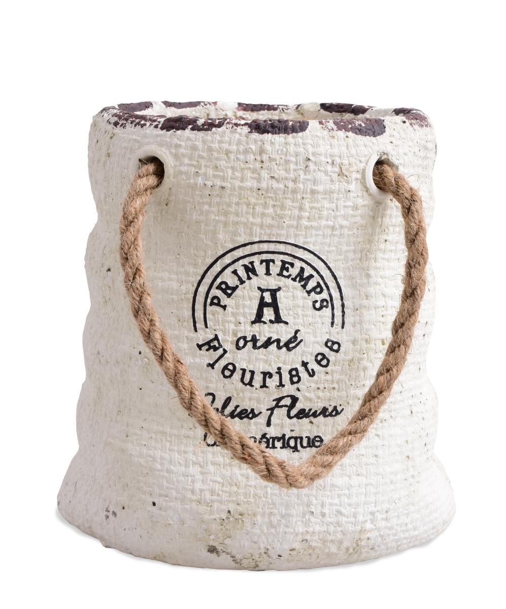 Kameninová dekorace  ve tvaru mlynářského pytle  s lanovými úchyty,velký