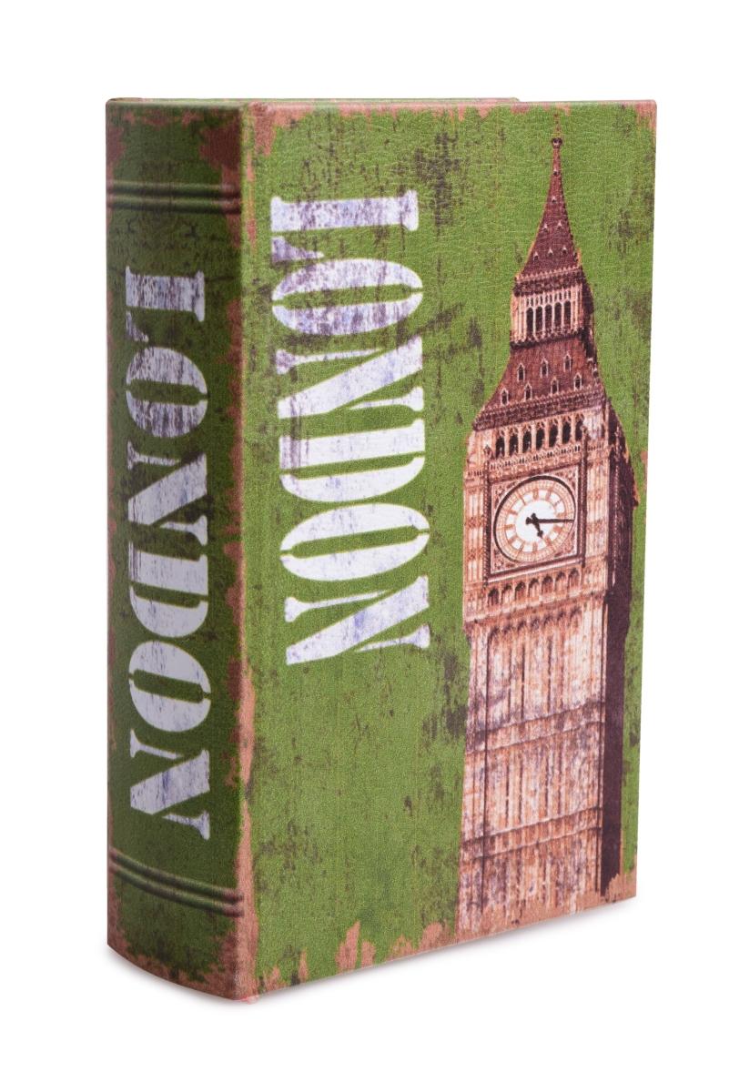 Dekorativní kniha/kazeta, LONDON, dřevěná