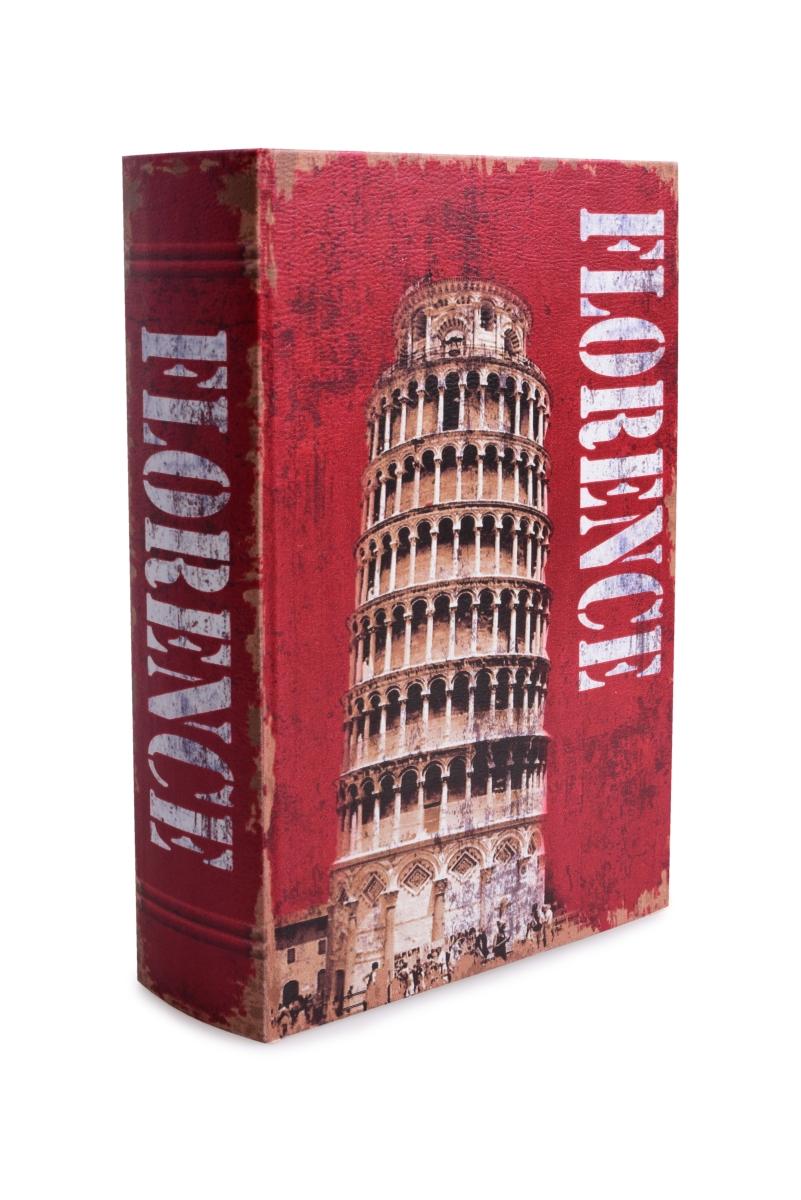 Dekorativní kniha/kazeta FLORENCE,dřevěná vel. L