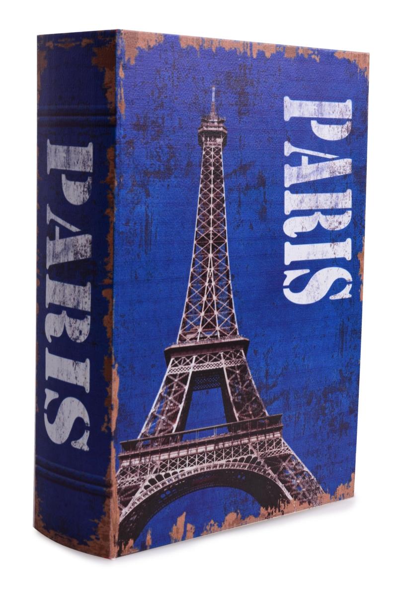 Dekorativní kniha/kazeta PARIS,dřevěná  vel. XL