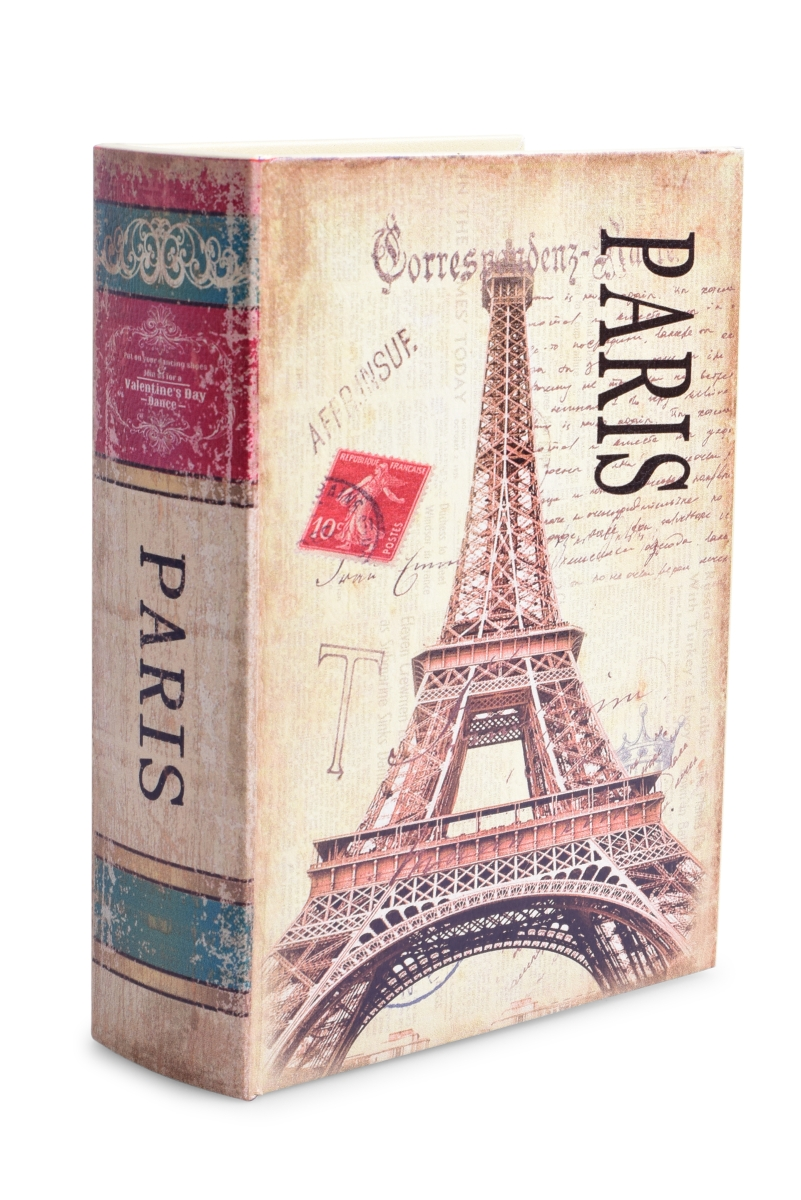 Dekorativní kniha/kazeta, PARIS,dřevěná