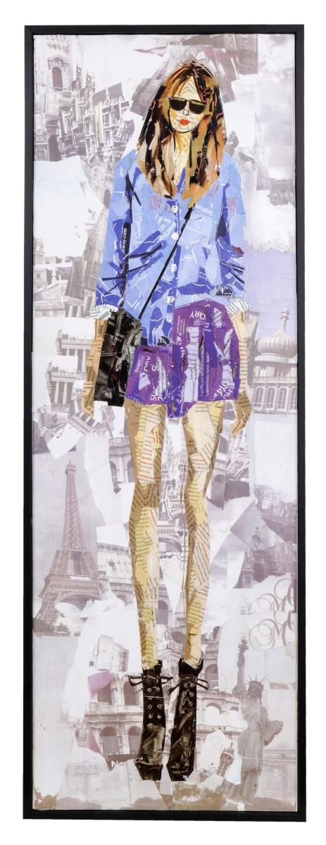Obraz FASHION WOMAN v modré košili