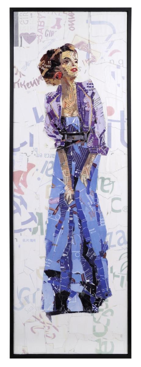 Obraz FASHION WOMAN, v modrých šatech