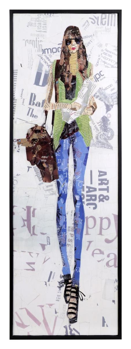 Obraz FASHION WOMAN, v zelené vestě