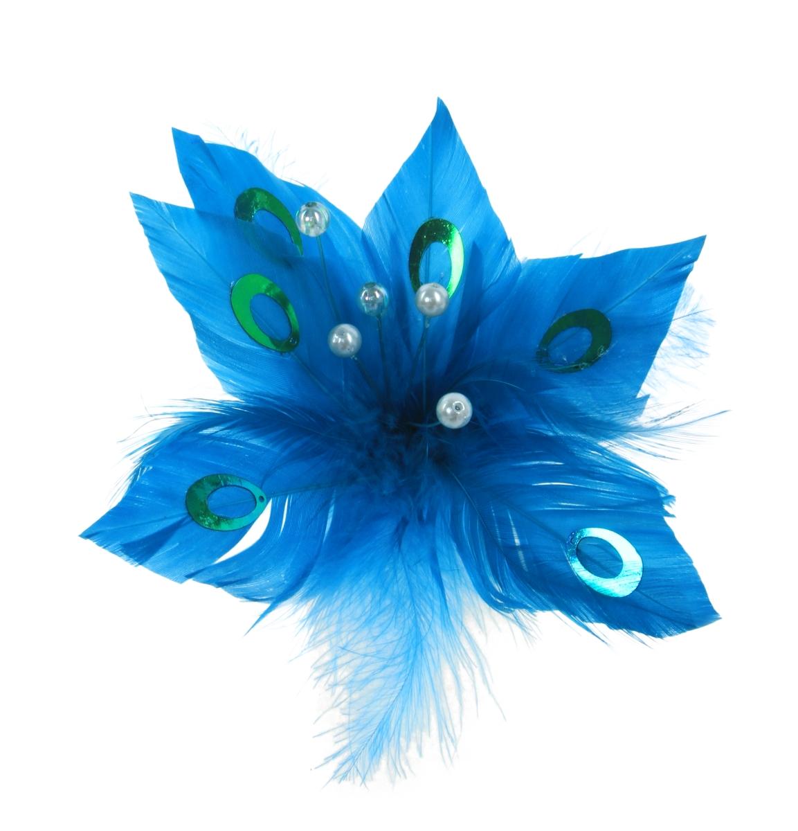 Modrá květina, z peříček
