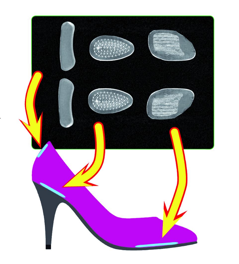 6ks gelové výstelky do střevíčků pro pohodlný došlap