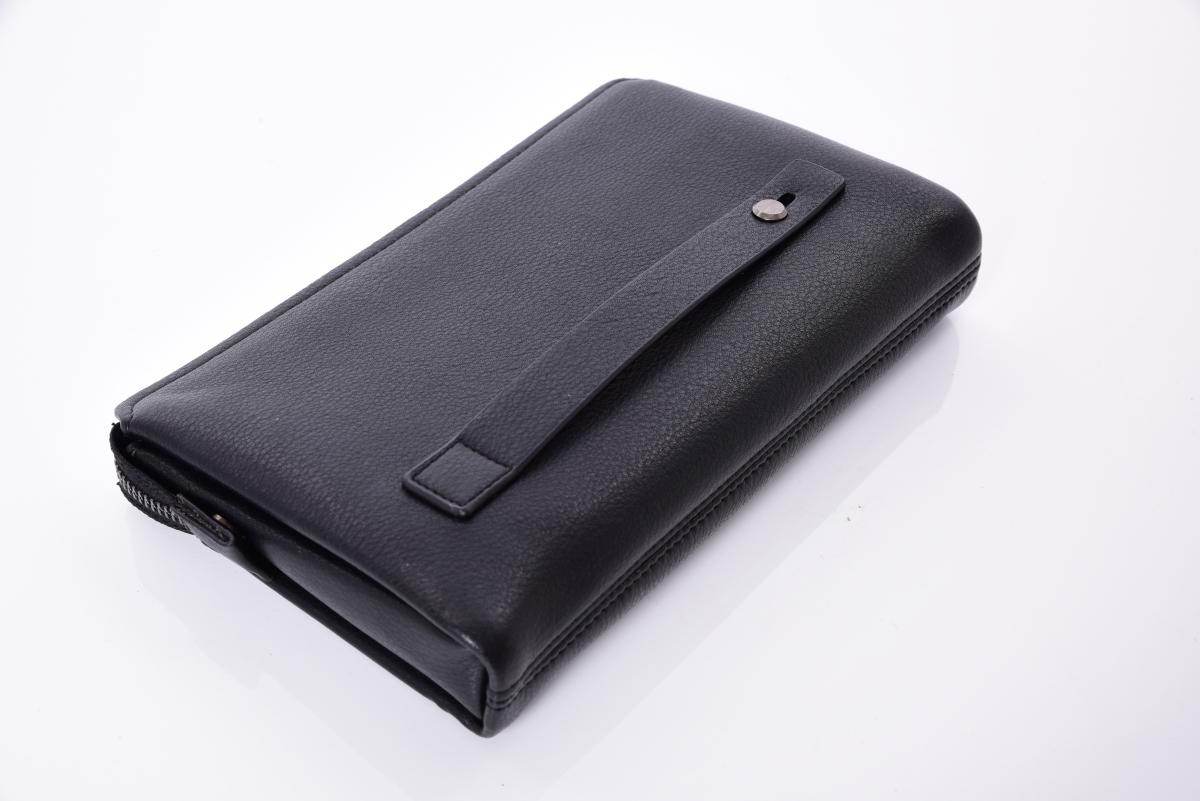 FC19062-PORTMONEY L kožená pánska príručná taška čierna