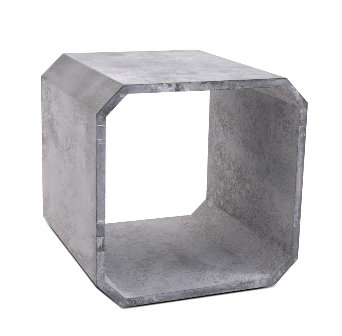 Dřevěný regál netradičního tvaru dekor šedého mramoru