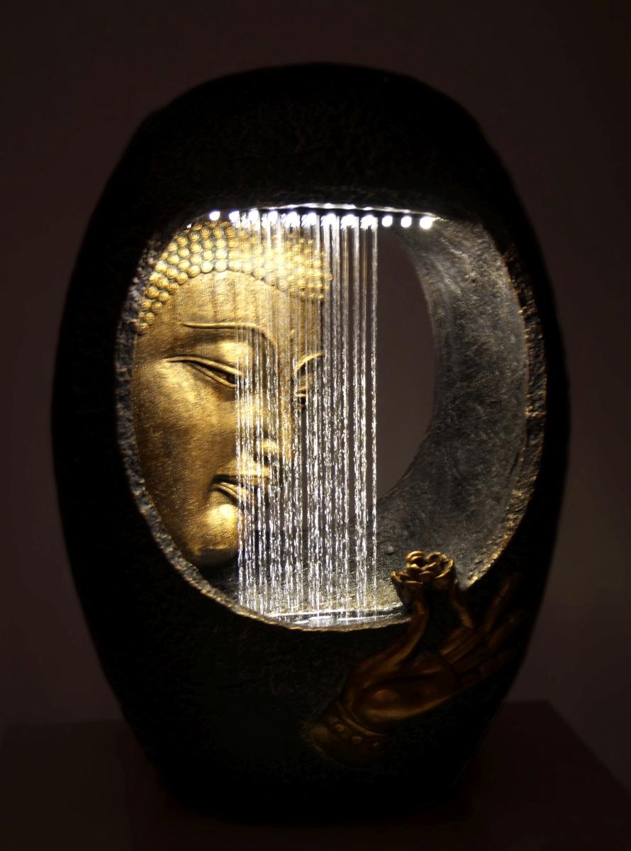 BUDDHA pokojová fontána, s LED osvětlením