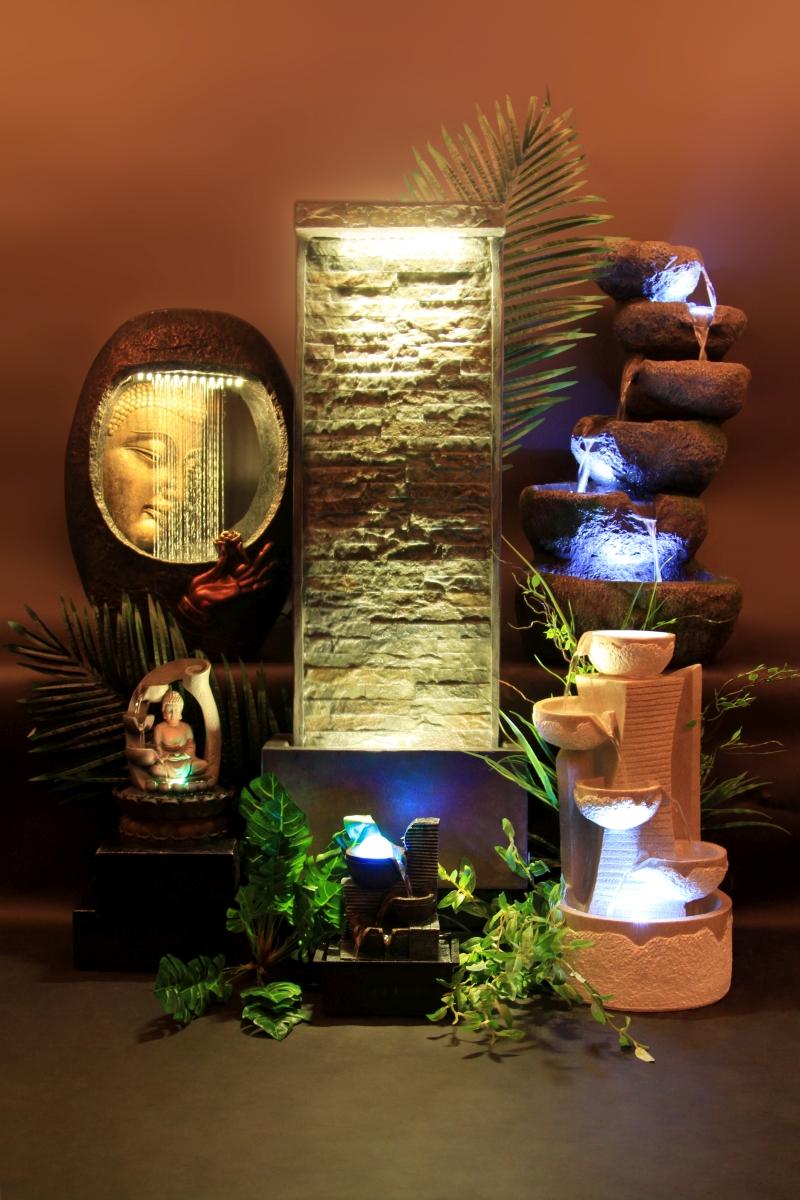 Vodní kaskáda pokojová fontána, s LED osvětlením
